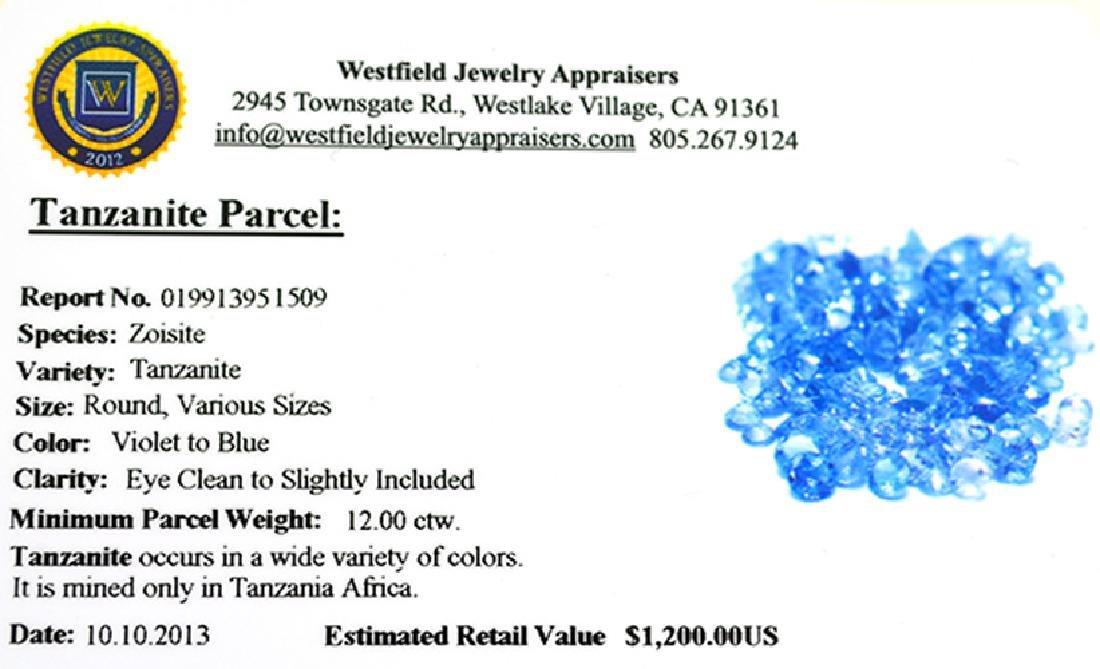 APP: 1.2k 12CT Round Cut Tanzanite Parcel - 2