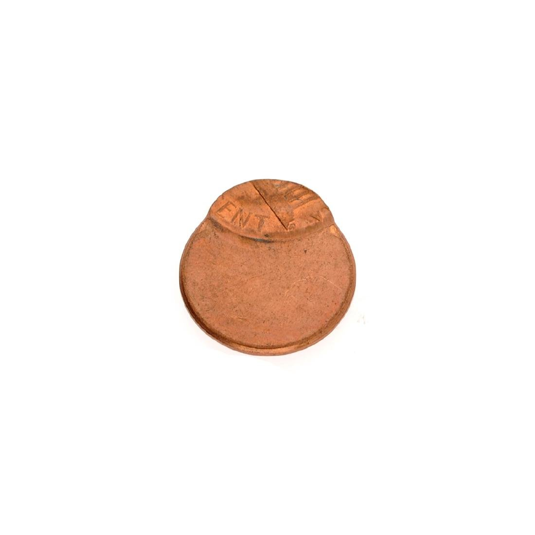 Mint U.S. Lincoln Off Center 1 Cent Planchet Coin - 2