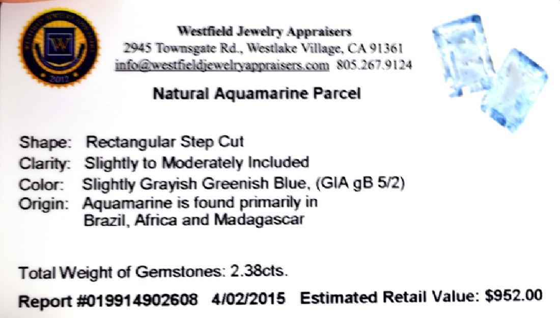 APP: 1k 2.38CT Rectangular Step Cut Natural Aquamarine - 2