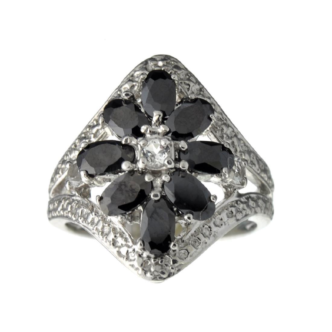 Rare Designer Sebastian Vintage, Sapphires And Sterling