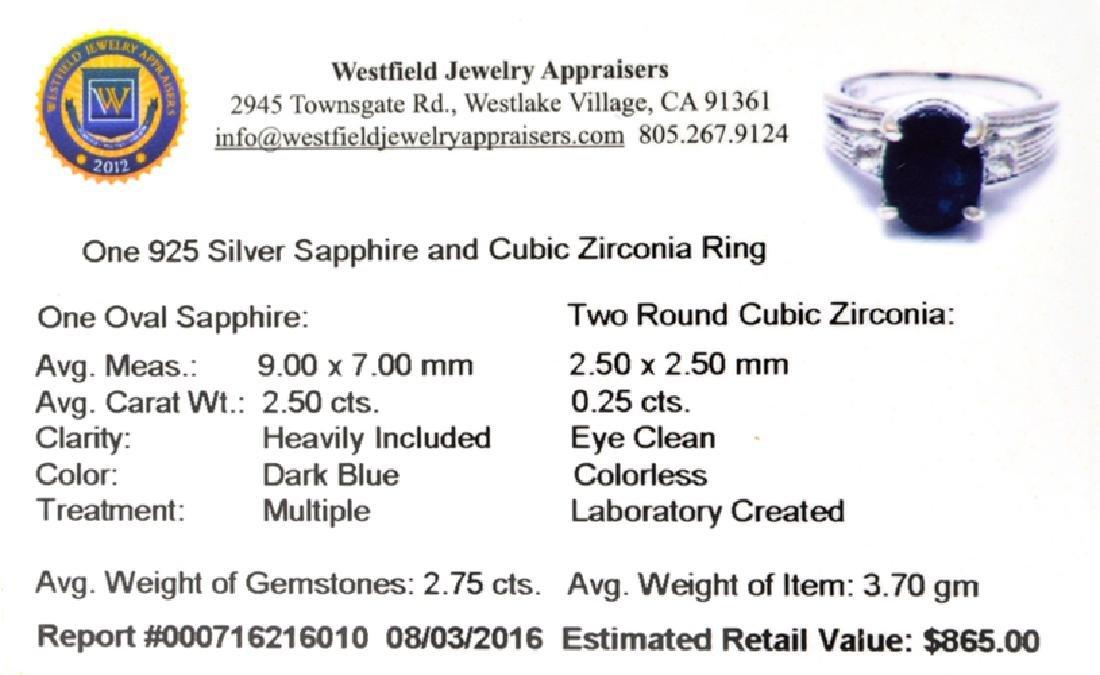 APP: 0.9k Fine Jewelry 2.75CT Dark Blue Sapphire And - 2