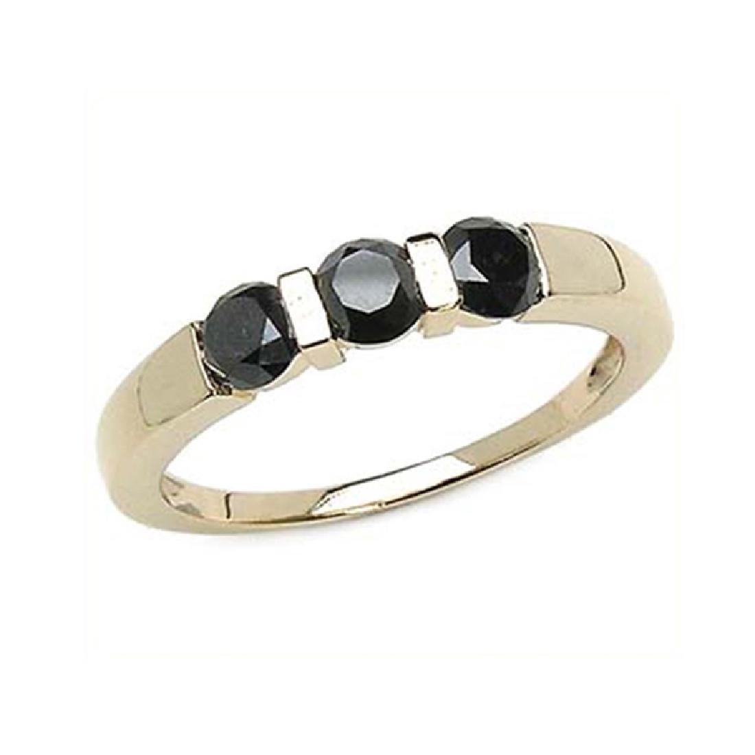 *Fine Jewelry 1.26CT Round Cut Black Diamond And