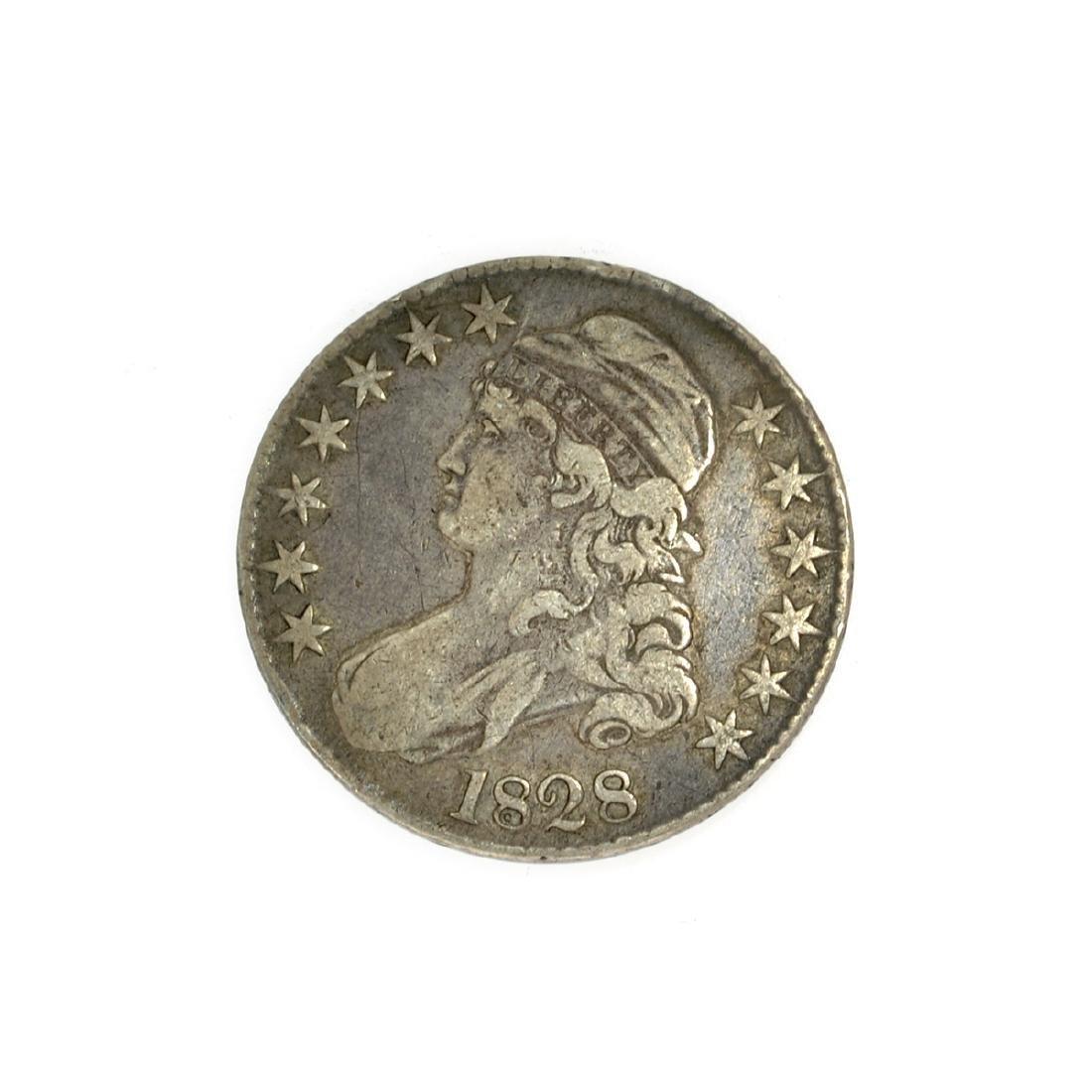 Rare 1828 Capped Bust Half Dollar Coin