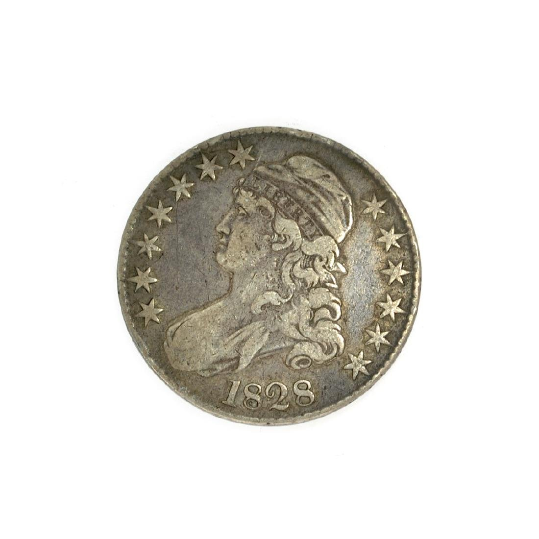 Rare 1828 Capped Bust Half Dollar Coin
