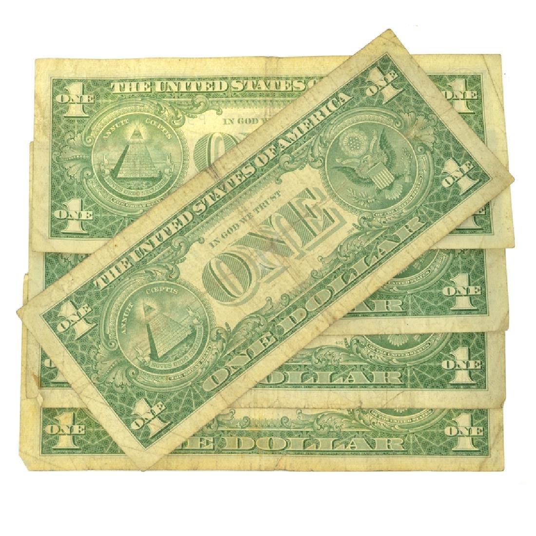 (5) 1957 $1 U.S Silver Certificates - 2
