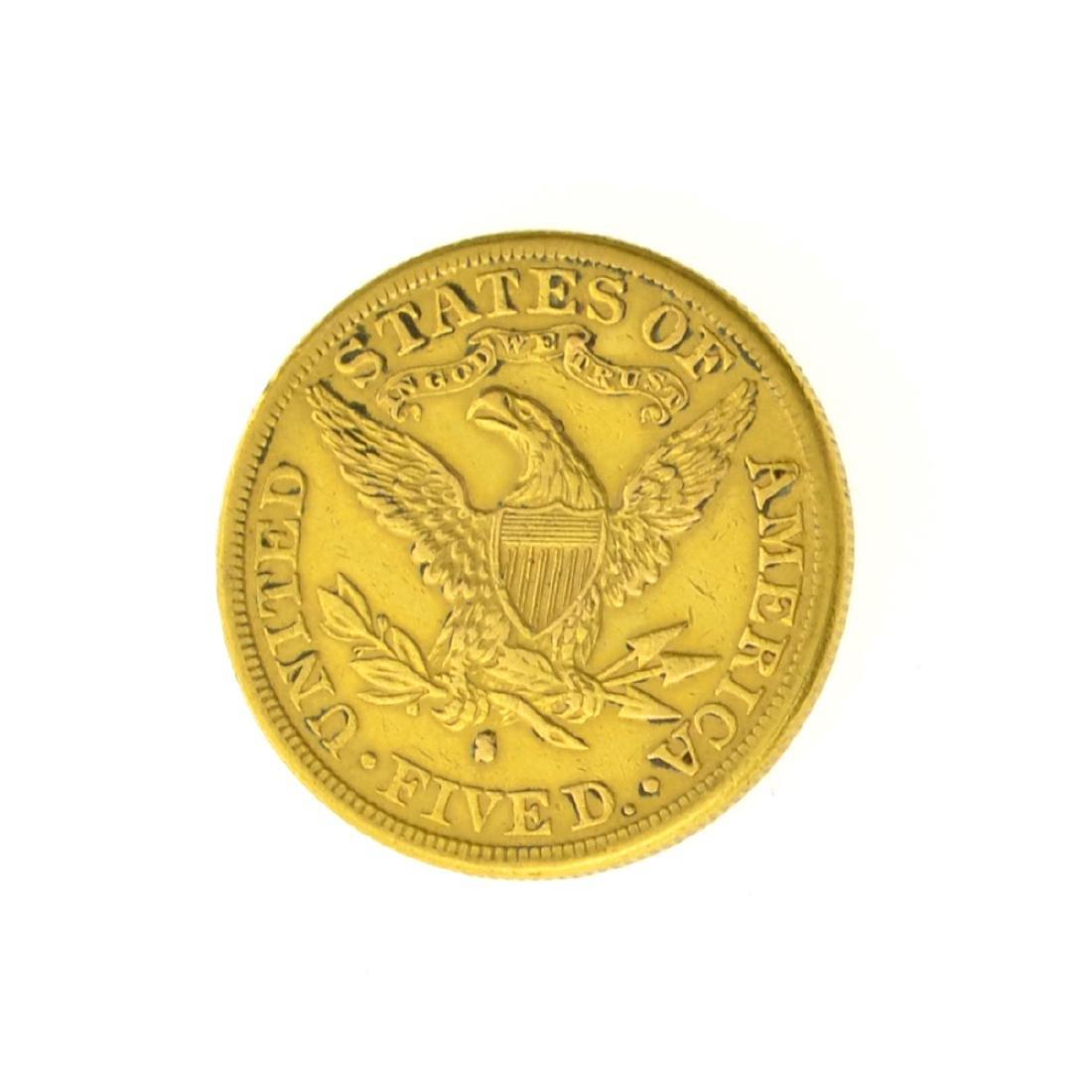 *1886-S $5.00 U.S. Liberty Head Gold Coin (JG) - 2