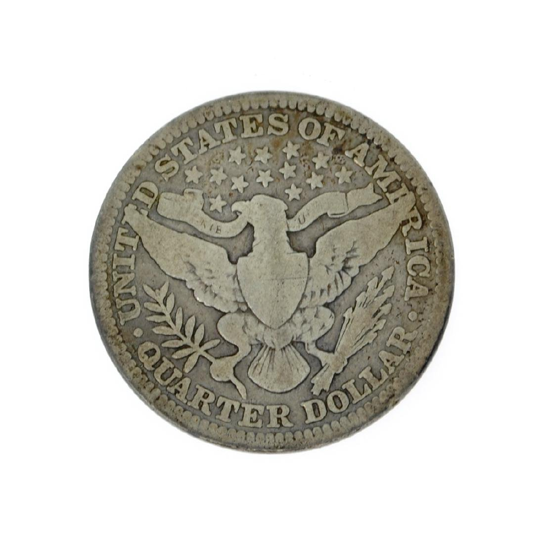 Rare 1909 Barber Quarter Dollar Coin - 2