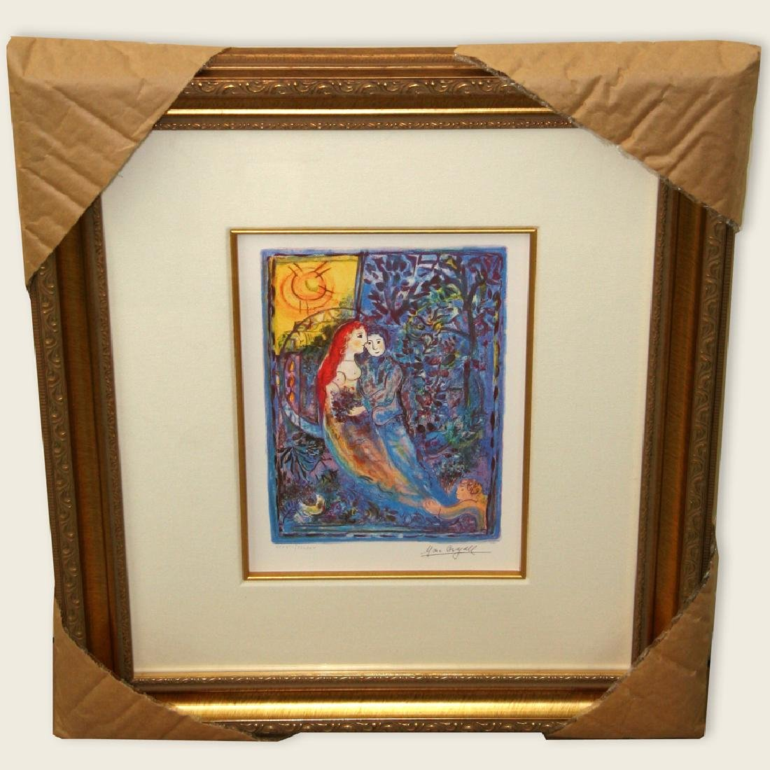 Chagall (After) 'The Wedding' Museum Framed Giclee-Ltd