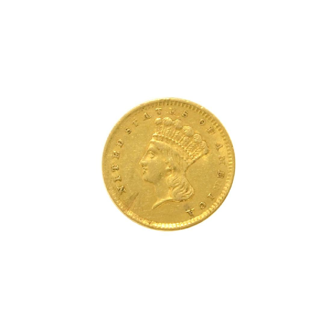 1856 $1 U.S. Indian Head Gold Coin