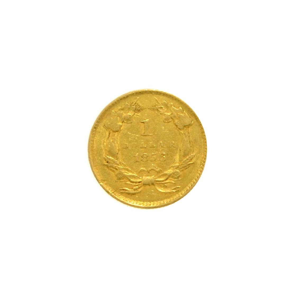 1856 $1 U.S. Indian Head Gold Coin - 2