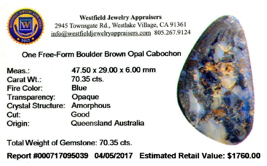 APP: 1.8k 70.35CT Free Form Cabochon Boulder Opal - 2