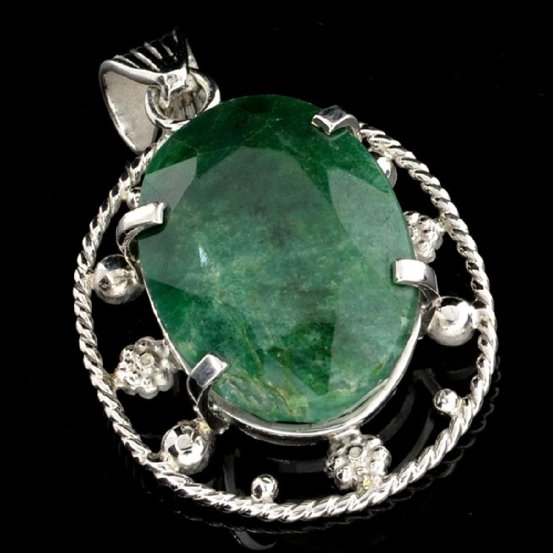 APP: 2.1k 53.23CT Oval Cut Green Beryl and Sterling