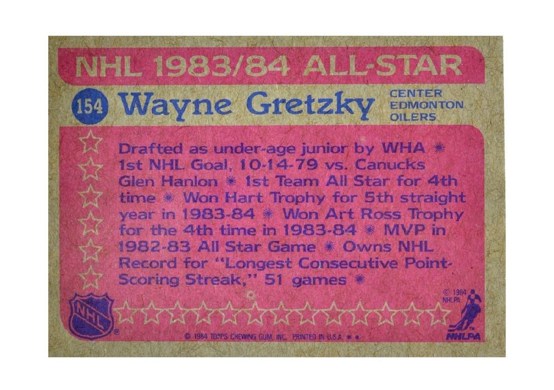 Extremely Rare NHL 1984 All-Star Wayne Gretzky Card - 2