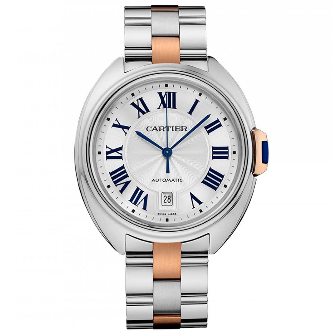 *Cartier Men's Cle De Cartier Stainless Steel Case,