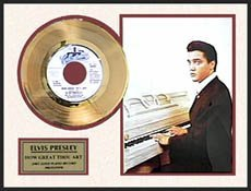 3019: ELVIS PRESLEY ''How Great Thou Art'' Gold LP