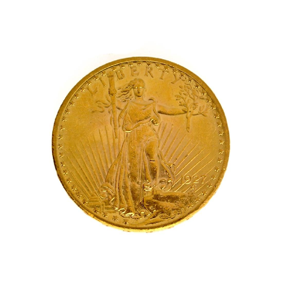 *1927 $20 U.S. Saint Gaudens Gold Coin (DF)
