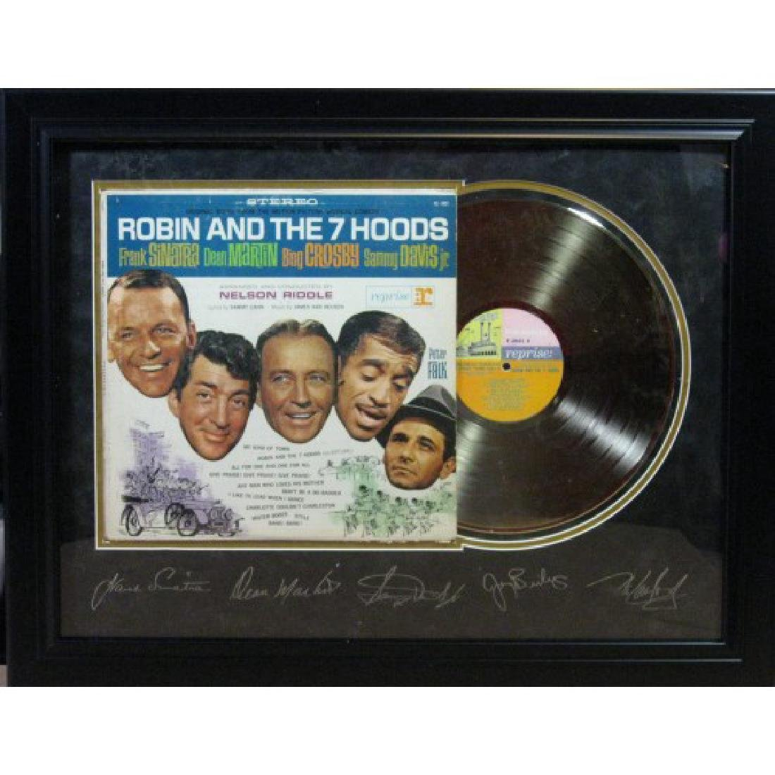 Robin & the 7 Hoods Engraved Gold Record