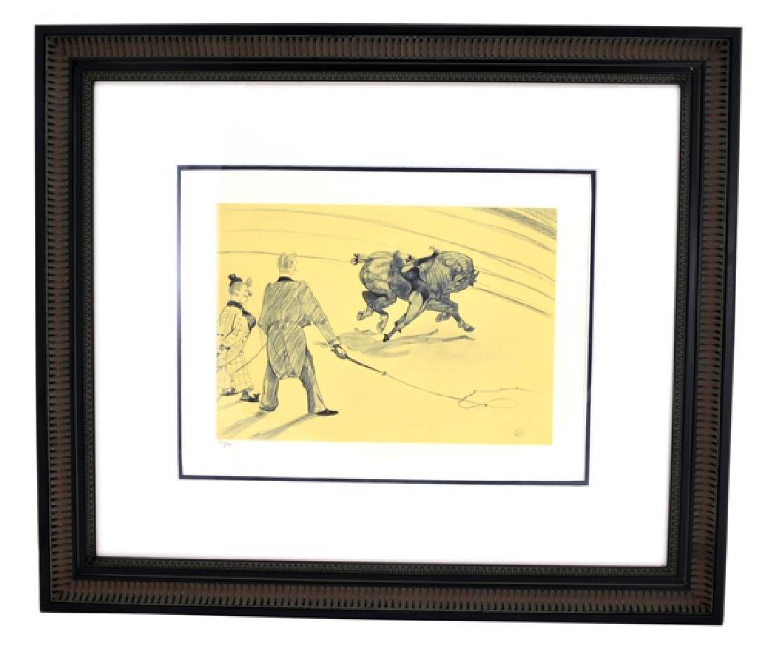 Toulouse-Lautrec (After) ''Voltige'' Rare Museum Framed
