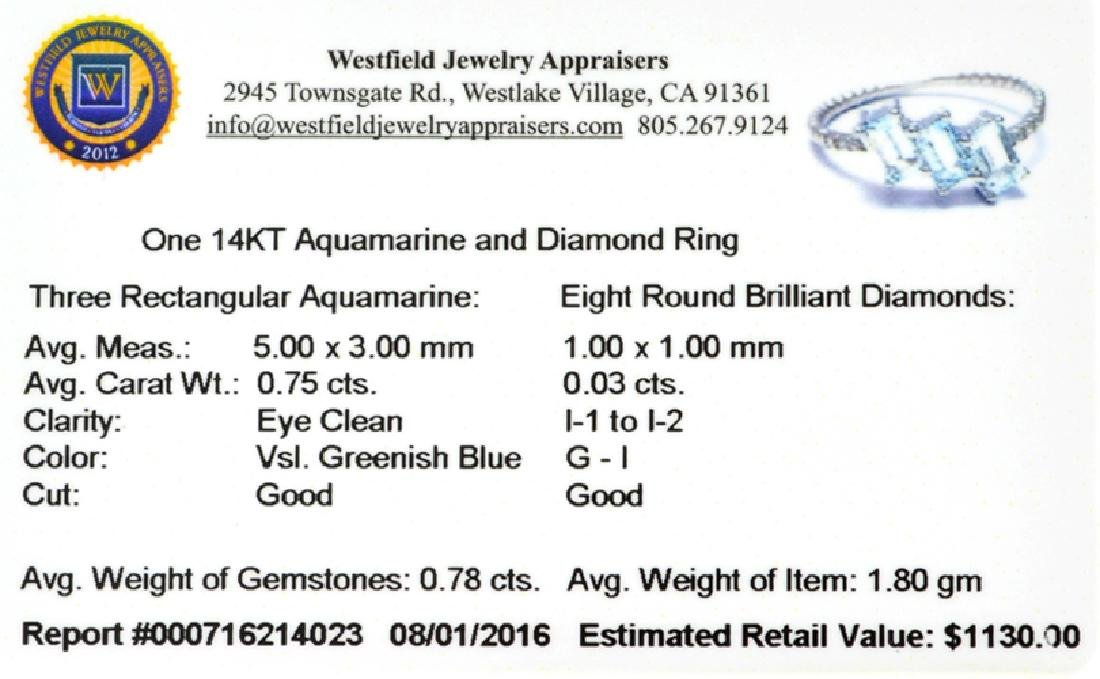APP: 1.1k Fine Jewelry 14KT Gold, 0.78CT Blue - 2
