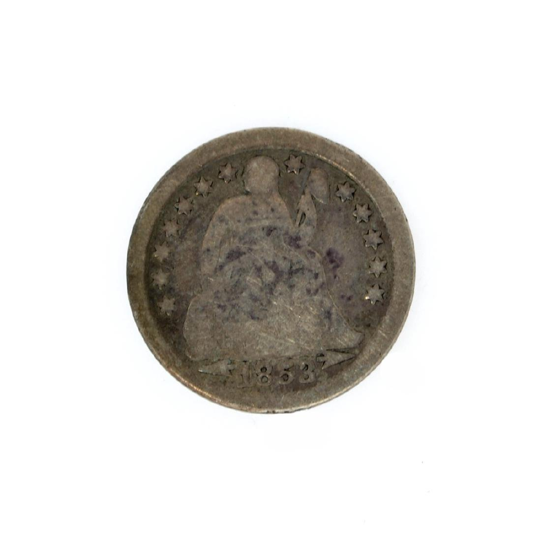 Rare 1853 Arrows At Date Liberty Seated Dime Coin