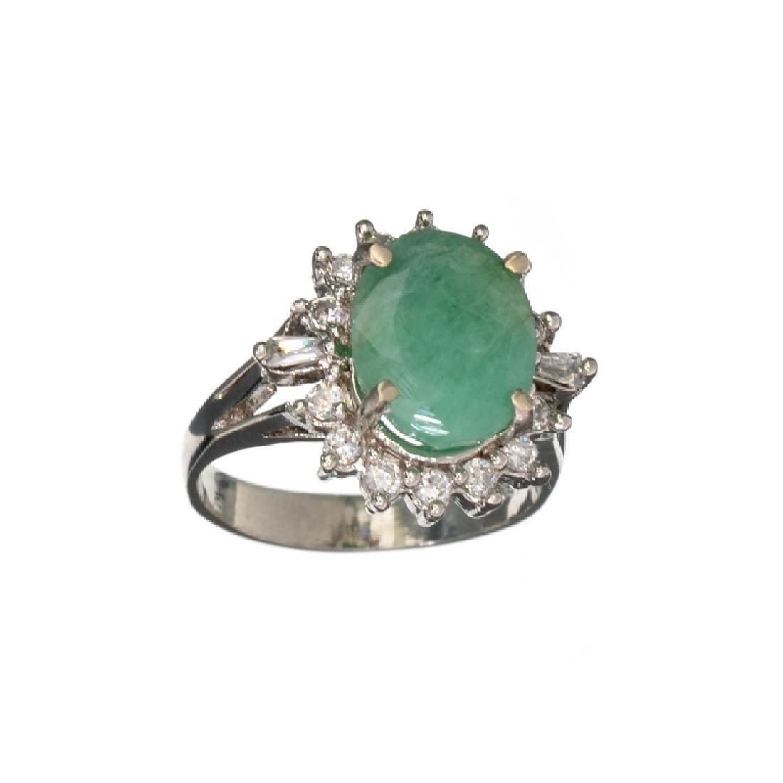 APP: 1.5k Fine Jewelry 3.66CT Oval Cut Green Emerald