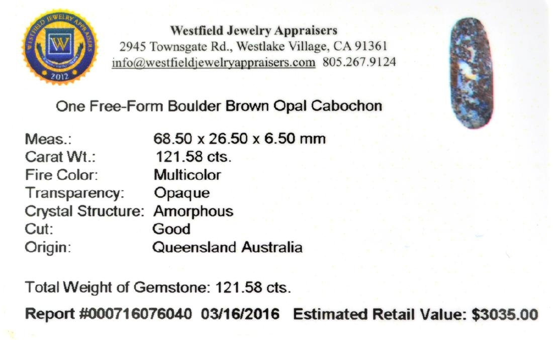 APP: 3k 121.58CT Free Form Cabochon Brown Boulder Opal - 2