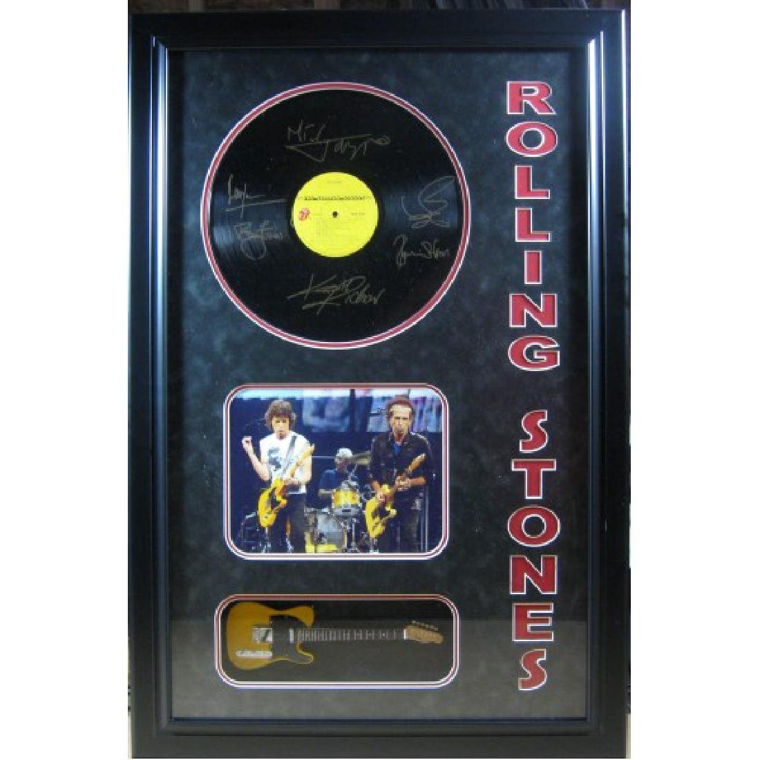 Rolling Stone with Engraved Record & Mini Guitar