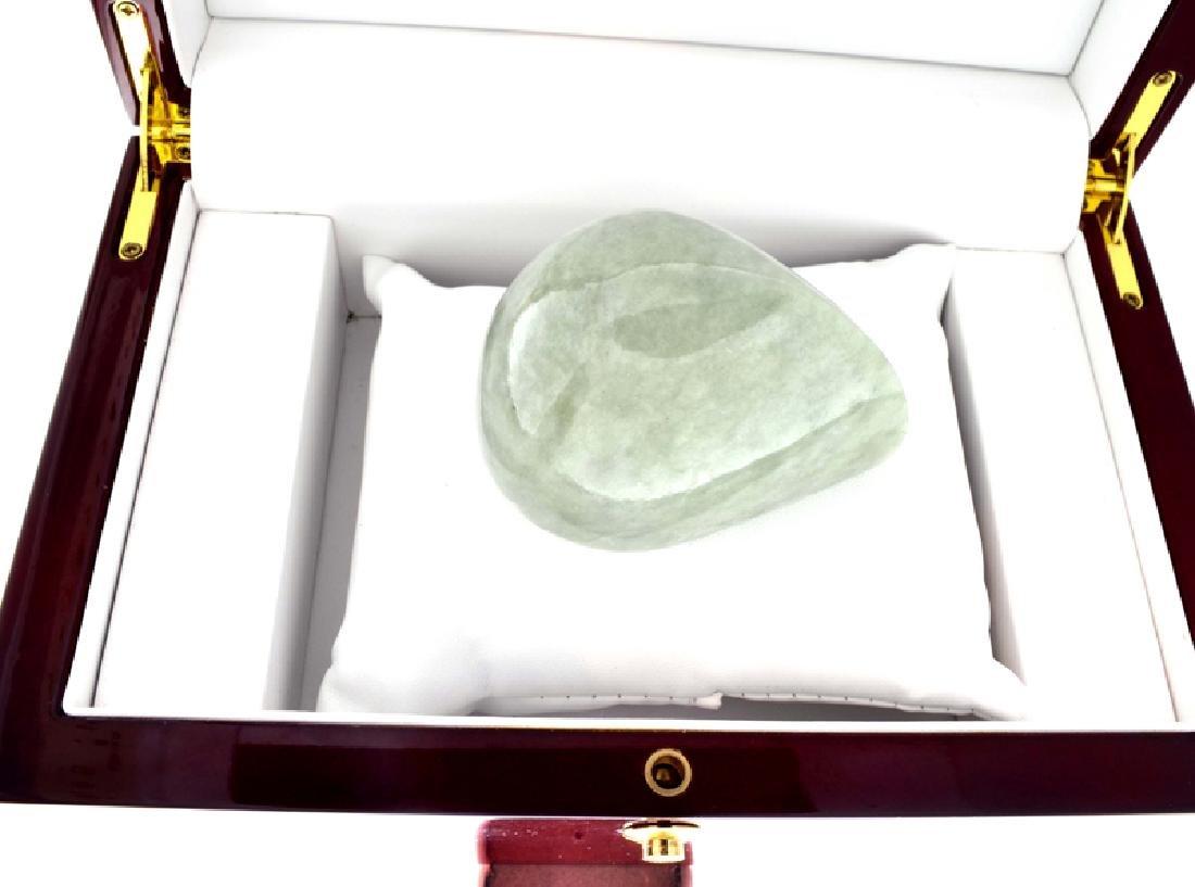 APP: 12.2k 1,114.50CT Pear Cut Light Green Jade - 2