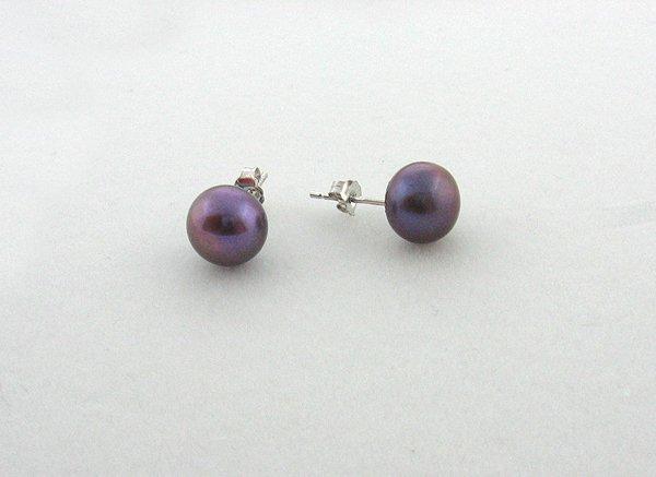 1014: GOV: Black Pearl Earrings, INVESTMENT!!