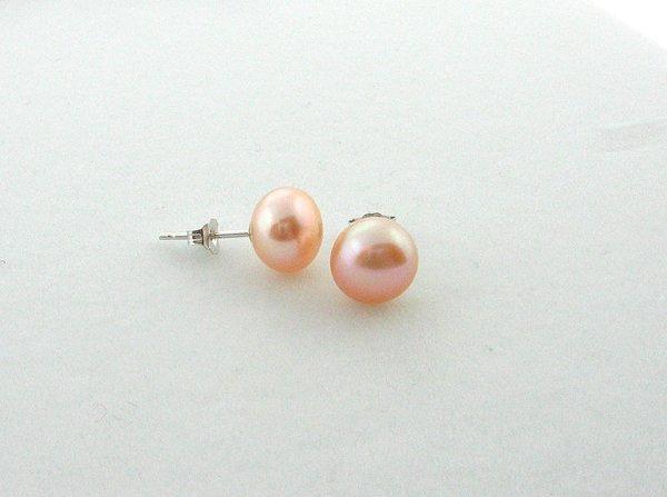 1001: Pink Pearl Earrings