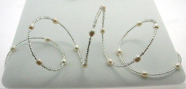 1013: White Pearl Wrap Bracelet