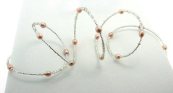 1021: Pink Pearl Wrap Bracelet