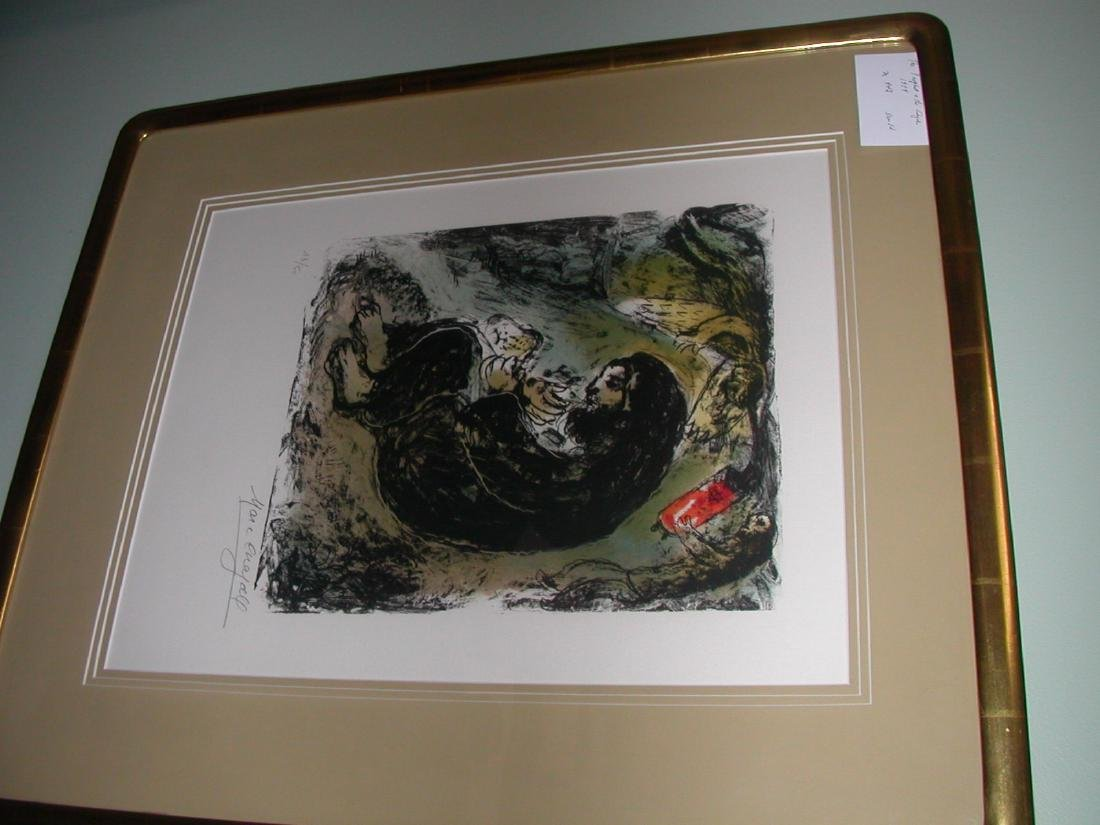 Meditation Lithograph by Marc Chagall Signed and
