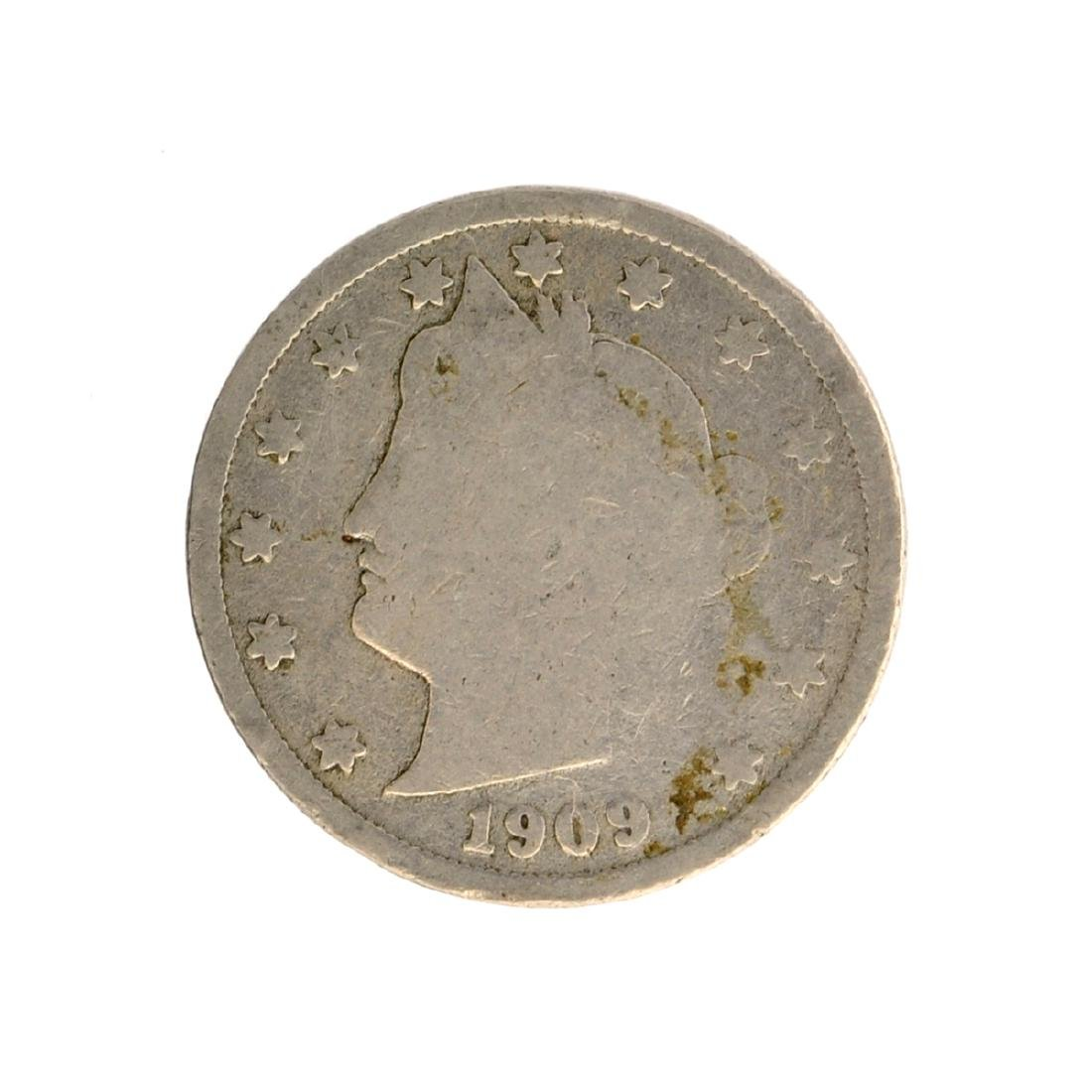 1909 V Nickel Five-Cent Piece Coin
