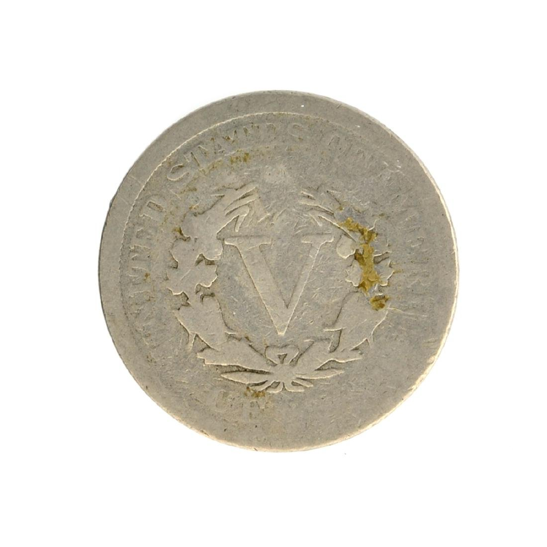 1909 V Nickel Five-Cent Piece Coin - 2