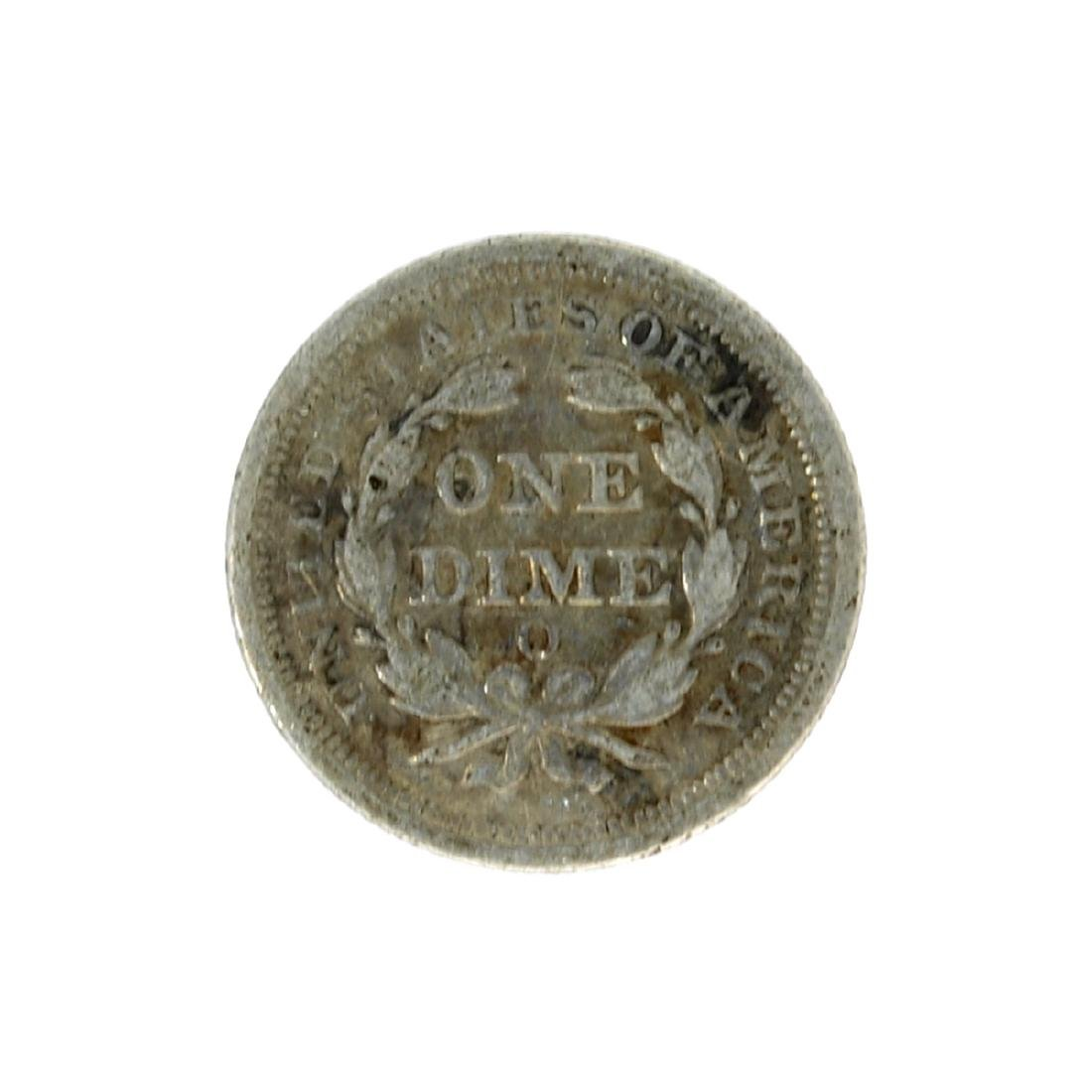 1854-O Liberty Seated Arrows At Date Dime Coin - 2