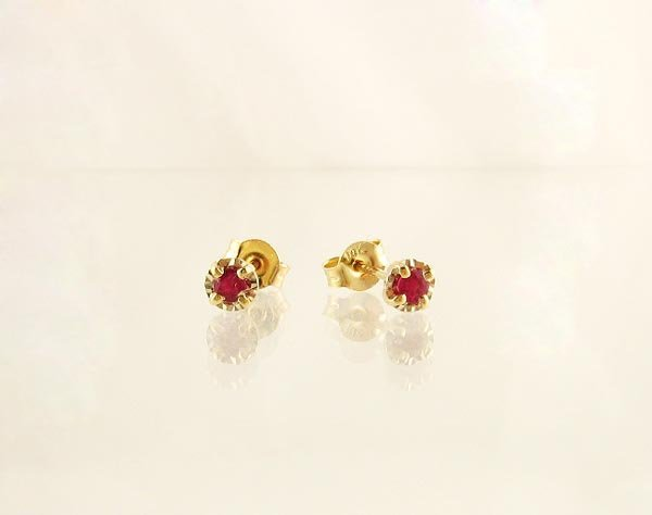 2003: 14 kt. Gold, Ruby Earrings, INVEST!
