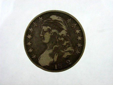6007: 1832 Busted Half Dollar Coin, COLLECTORS' ITEM!!