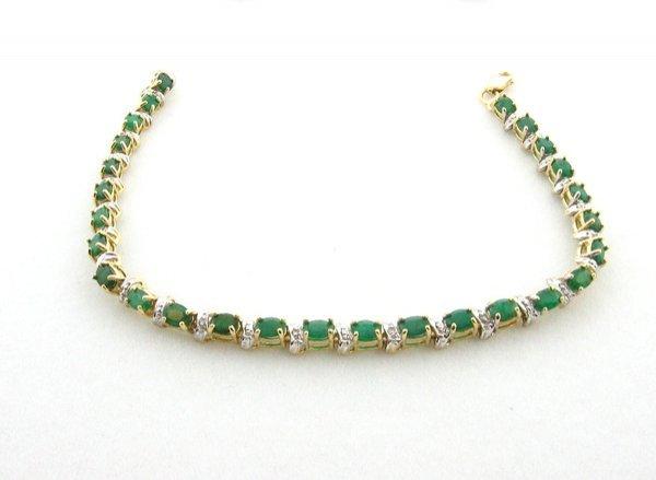 6015: GOV: 5.40CT Emerald and .07CT Diamond Bracelet, I