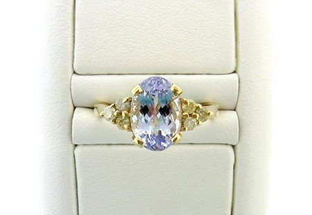 17: APP.: $4.5K, 2.15CT Tanzanite and Diamond Ring, INV