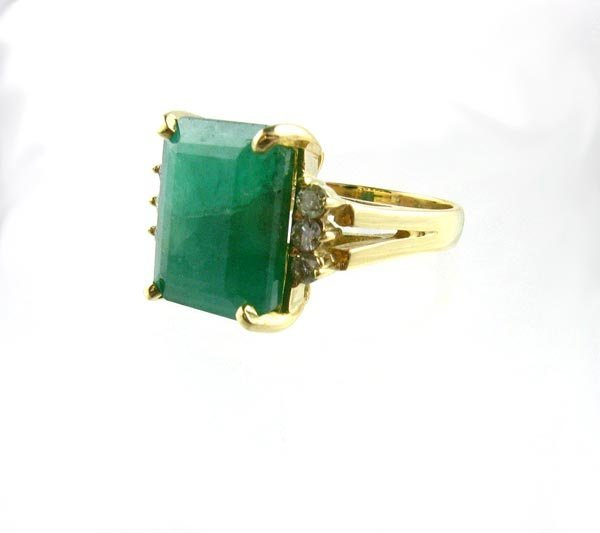 23: APP.: $6.1K, 6.65CT Emerald and Diamond Ring, INVES