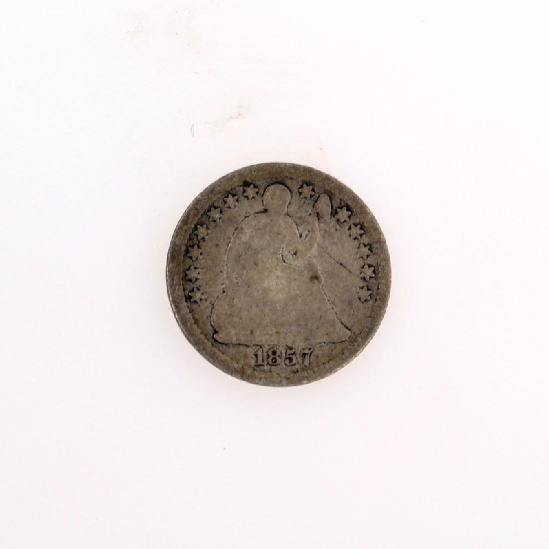 1857 Liberty Seated Half Dime Coin