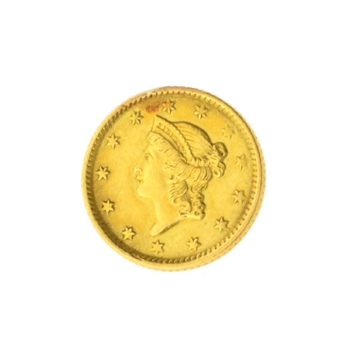 *1854 $1 U.S. Liberty Head Gold Coin (JG)