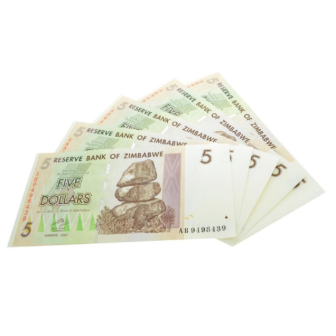 (5) $5 Zimbabwe Elephant Note - 2