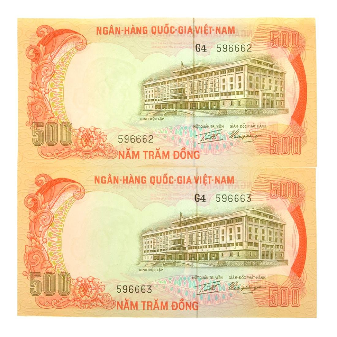 Vietnam South P33a 500 Dong Banknotes (2) - 2