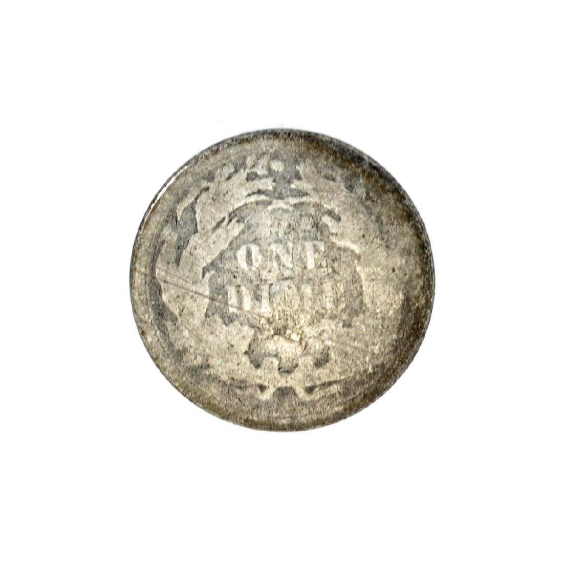 1877 Liberty Seated Dime Coin - 2