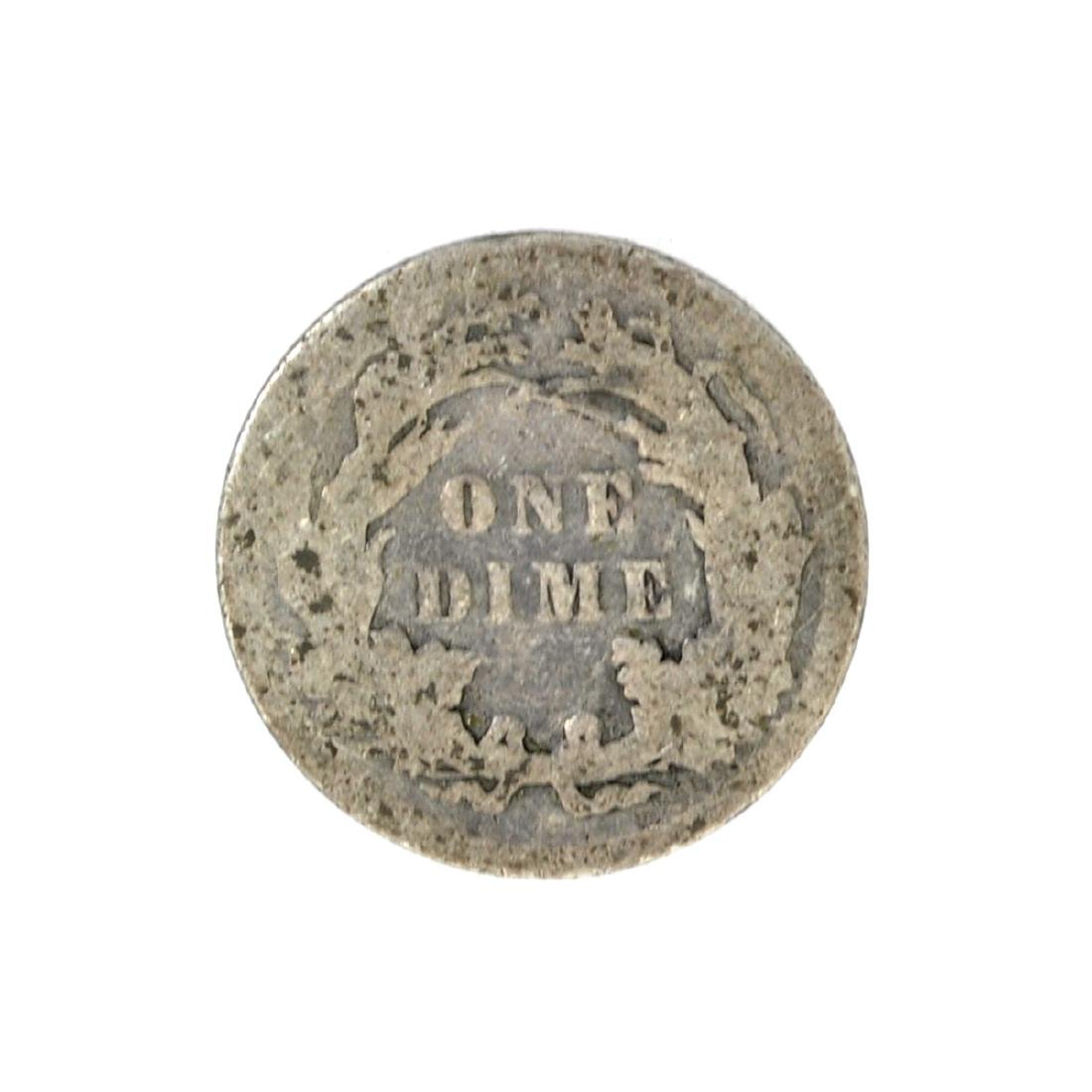 1890 Liberty Seated Dime Coin - 2