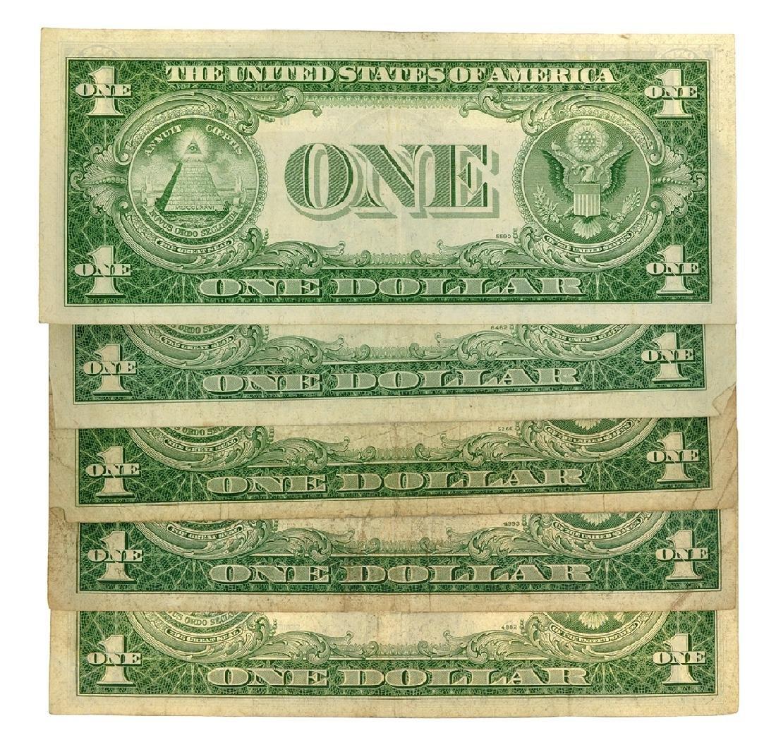 (5) 1935 $1 U.S. Silver Certificates - 2