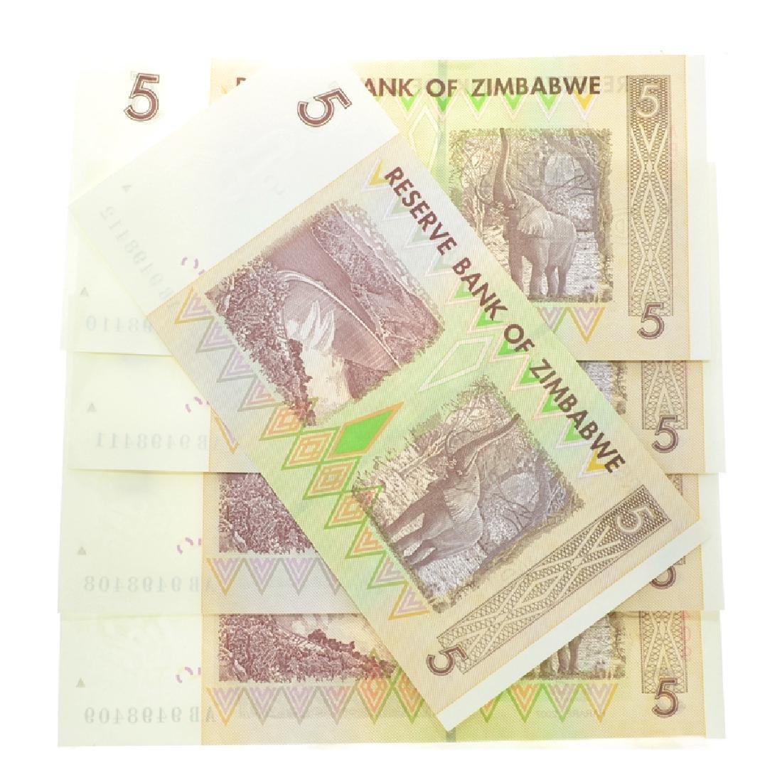 $5 Zimbabwe Elephant Note - 2