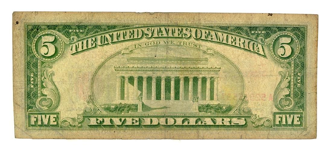 1963 $5 U.S. Red Seal Note - 2